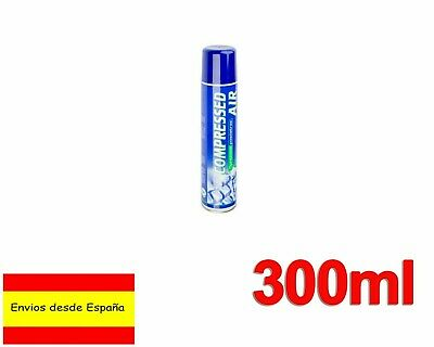 AIRE COMPRIMIDO 300 ML Compressed AIR SPRAY LIMPIEZA ORDENADOR TECLADO Q0026