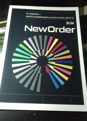 New Order rare  poster A3 super quality heavy canvas paper