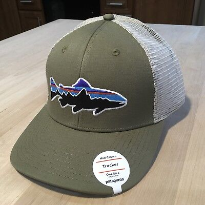 4dc4b5ca116 PATAGONIA FITZ ROY Trout Trucker Hat - New With Tags - Dark Ash ...