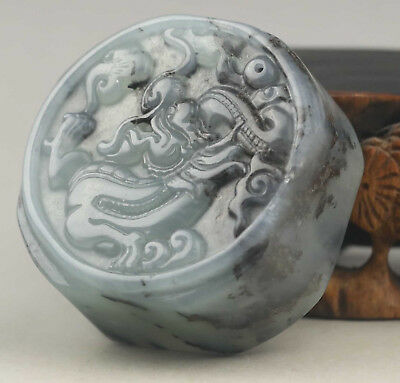 China old natural Jade hand-carved dragon jade seal NO.D491
