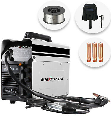 Autojack Mig Master 130 Amp Welder Portable Gasless No Gas 240V