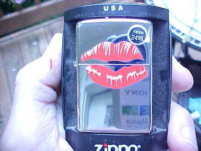 Vintage ZIPPO Lighter NIB Unused HOT LIPS From Rocky Horror Picture Show Movie