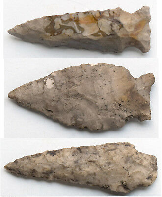 Authentic Arrowheads from a Southwest Michigan Collection - Three