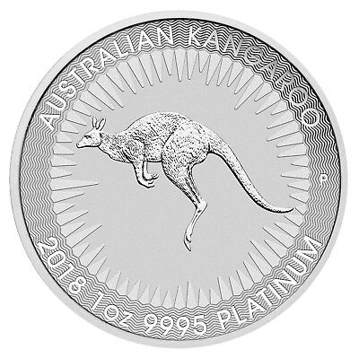2018 $100 Australia 1 oz .9995 Platinum Kangaroo Brilliant Uncirculated