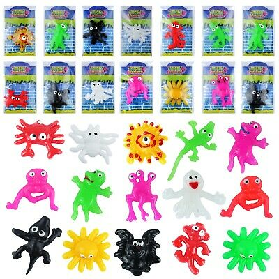 1/12/24/36/48 Sticky Creatures Wall Window Slimy Monsters Party Bag Filler Toys