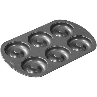 NEW Six Cavity Steel Donut Pan - Nonstick & Dishwasher Safe - Bake 6 At A Time