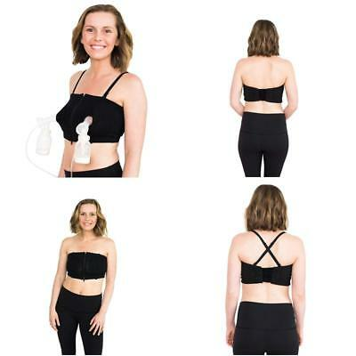 Simple Wishes D Lite Hands Free Pumping Bra, Patented, Black, Xs-Large