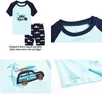 Dolphin&Fish Little Boys Shark Short Pajamas Kids Cotton Pjs Toddler Clothes