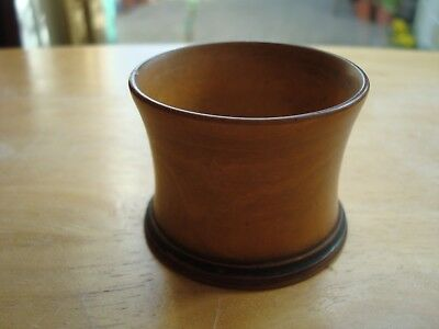 "Vintage Treen Hand Turned Small Wooden Pot Approx. 1.5"" Tall And 2"" Across"