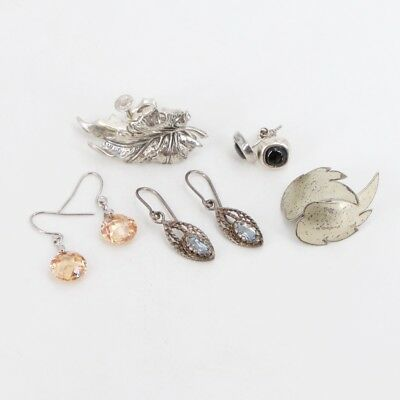 VTG Sterling Silver - Lot of 5 Earring Pairs NOT SCRAP - 19g