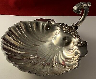 ANTIQUE UNUSUAL HALLMARS SCALLOPPED SHELL SILVERPLATE DISH MA 033018eFZII