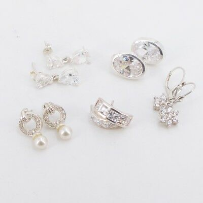 VTG Sterling Silver - Lot of 5 Assorted Earring Pairs NOT SCRAP - 23g