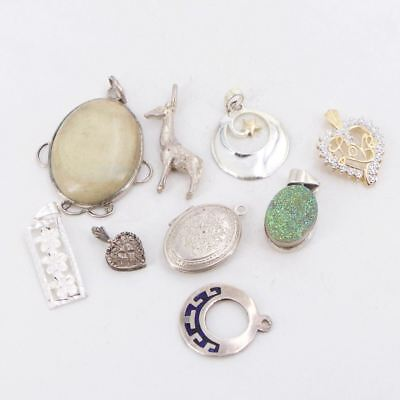 VTG Sterling Silver - Lot of 9 Assorted Charm Pendant NOT SCRAP - 26g