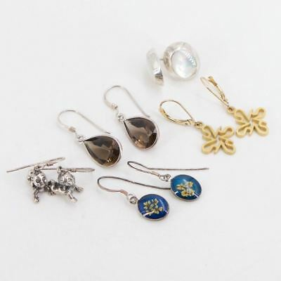 VTG Sterling Silver - Lot of 5 Earring Pairs NOT SCRAP - 14g