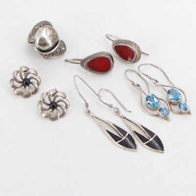 VTG Sterling Silver - Lot of 5 Earring Pairs NOT SCRAP - 21g