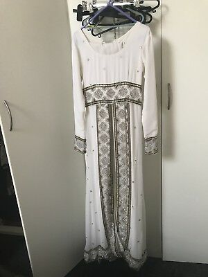 Pakistani, Asian Offwhite Party, Wedding, Prom Gown  Dress