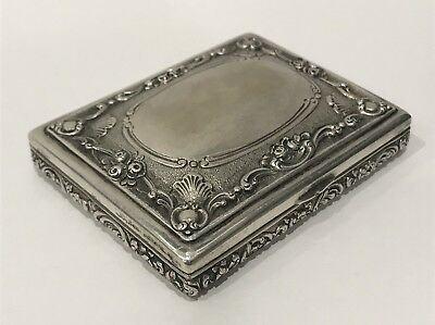 Antique K. Faberge Russian Imperial Silver Cigarette Case КФ Hallmark