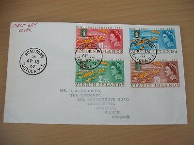 Virgin Islands new constitution first day cover with 4 values to 1 dollar 1967