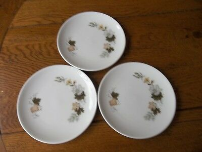 "3 Royal Doulton West Wood  6 1/2""  Side Plates"