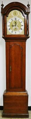 Antique C1760 English 8Day 5 Pillar Golden Oak London Grandfather Longcase Clock