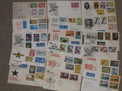 Ghana-17 different FDC`s