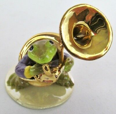 Hagen Renaker Tuba Playing Toad / Frog Figurine #3252 Toadally Brass Series