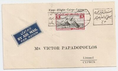 1935 Egypt To Limassol, Cyprus First Flight Cover, Few Covers Known !!