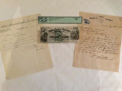 N. B. Forrest...Selma,Marion,Memphis Railroad grouping...letters and currency