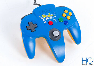 Official N64 Nintendo 64 Pikachu Blue / Yellow Retro Game Controller