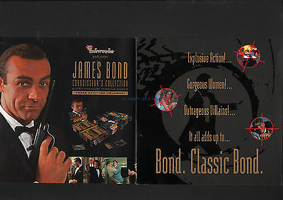James Bond Inkworks Rare 1996 Industry Trade Brochure Connoisseur's Collection