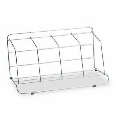 Fellowes Four-Section Wire Catalog Rack, Metal, 16.5 x 10 x 8, Silver (FEL10402)