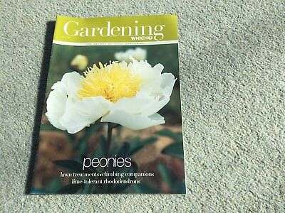 Gardening Which? Magazine. May, 2002. Peonies. Lawn treatments. Rhododendrons.