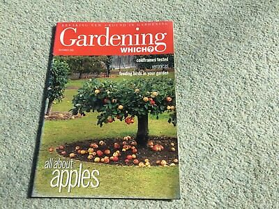 Gardening Which? Magazine. November, 2000. All about apples. Coldframes tested.