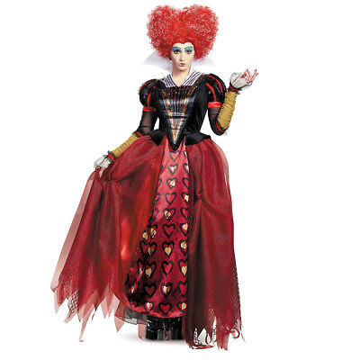 Disney Villains Red Queen Alice in Wonderland Adult Halloween Costume for Women