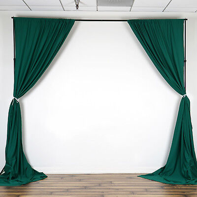 HUNTER GREEN 10 x 10 ft Polyester BACKDROP CURTAINS Drapes Panels Home Party