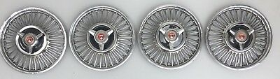 "Vinage 1960's Ford Mustang, Falcon, Fairlane, Galaxie 13"" Wire Spinner Hubcaps"