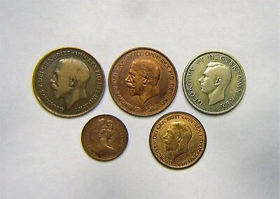 Great Britian coins-Lot of 5-various dates