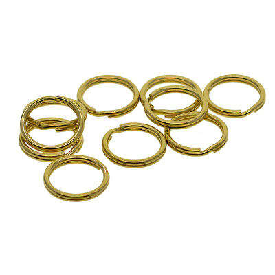 10 x Round Solid Brass Split Key Ring Chain Hook Hardware Connector Bag 20mm