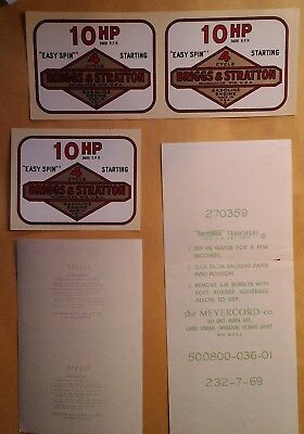 Briggs Stratton Old Style 10hp decal, 270359