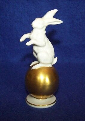 Rosenthal Germany Bunny Rabbit Hare on Gold Ball