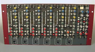 """Calrec Q Series Modules PY2941 x 6 QF2925 x 6 DL2934 x 2 fitted in NEW 19"""" Case"""