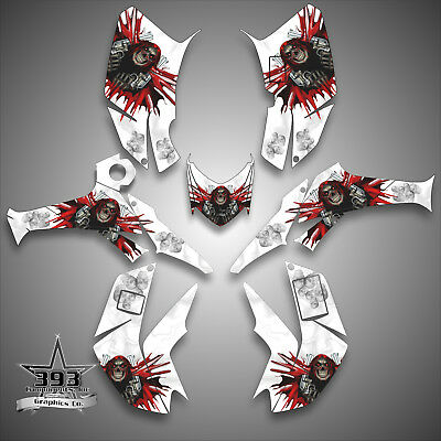 """HONDA 2006-2017 TRX250EX TRX250X GRAPHICS /""""THE OUTLAW/"""" 11 FOR WHITE PARTS DECAL"""