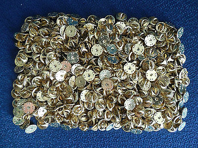 Brass Clutch Back 100 Lot Military Badge Insignia Army USMC USAF Disney Pin C100