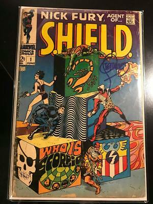 Nick Fury Agent of Shield #1 Signed by Jim Steranko Marvel Comics