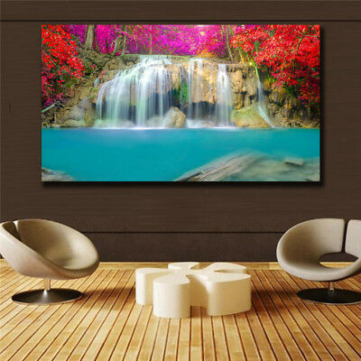 Oil Painting Modern Abstract On Canvas Unframed Scenery View Huge Wall Deco k001