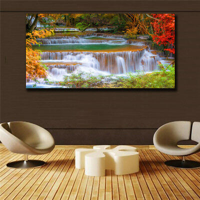 Oil Painting Modern Abstract On Canvas Unframed Scenery View Huge Wall Deco k003