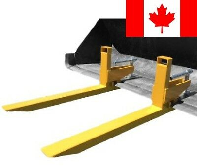 Clamp on to bucket pallet fork for tractors and skid steer loaders, 2000 lb c...