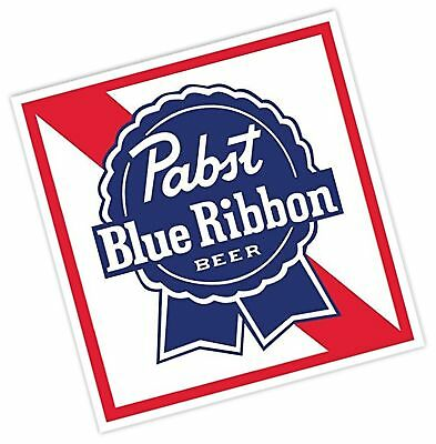 "PABST BLUE RIBBON Beer Vinyl Sticker Decal 4""x4"" Car Bumper Laptop Toolbox"