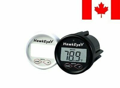 HawkEye D10DX.01T In-Dash Depth Sounder with Air and Water Temperature (Inclu...