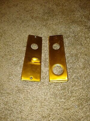 Nice Vintage Bright Brass Steampunk Antique Door Knob Back Plates Art/crafts